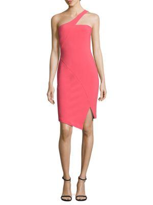 Cerise One Shoulder Dress