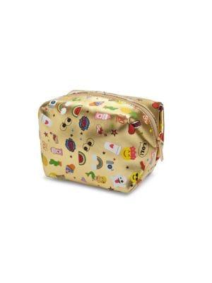 bari lynn female kids emoji printed makeup bag