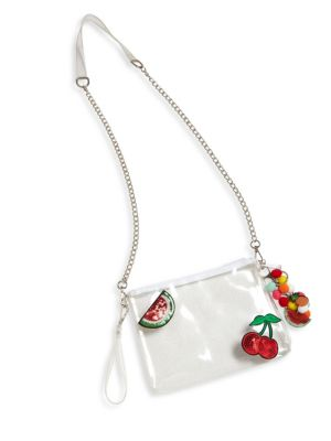 Kid's Fruits Patch Convertible Clutch
