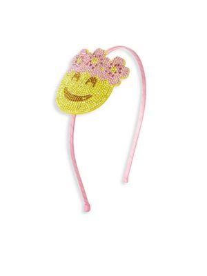 Kid's Flower Halo Smiley Headband