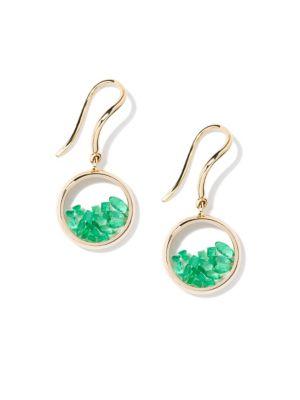 Chivor Emerald & 18K Yellow Gold Earrings