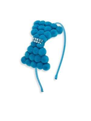 Kid's Swarovski Crystal Pom-Pom Headband