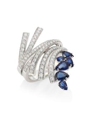 Mirage Diamond & Blue Sapphire Ring