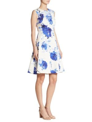 Sophia Watercolor Dropwaist Dress