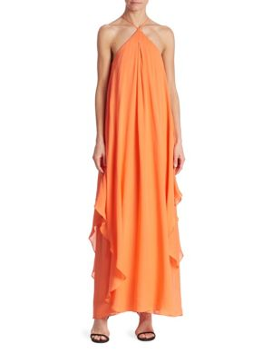 Ginger Silk Georgette Maxi Dress