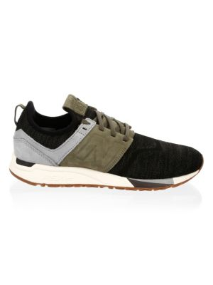 Nubuck Knit Sneakers