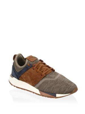 Nubuck & Knit Sneakers