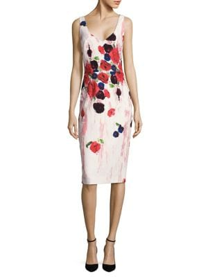 Floral-Print Sheath Dress by David Meister