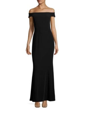 Off-The-Shoulder Crisscross Gown