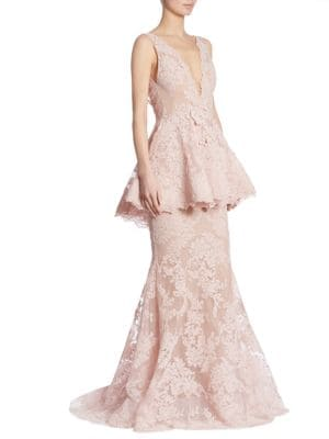 Peplum Lace Gown