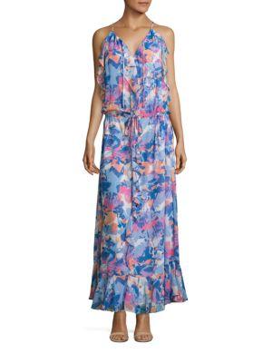 Printed Boho Ruffle Dress