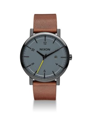 Rollo Leather Strap Watch
