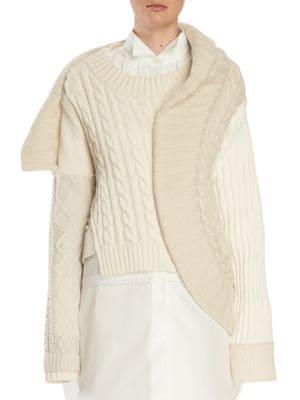 Wool Blend Sculptural Sweater