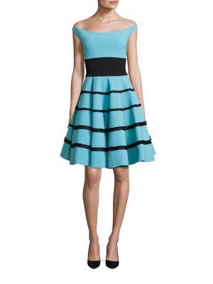 Nicoletta Striped Fit & Flare Dress