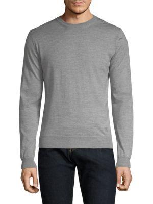 Long-Sleeve Wool Sweater