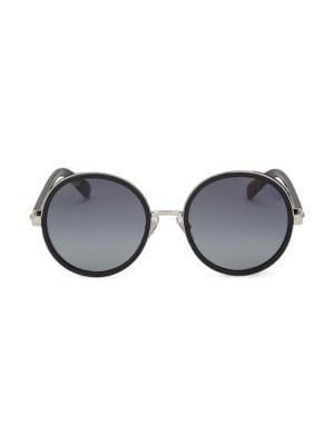 Andie 54MM Round Crystal-Detail Sunglasses