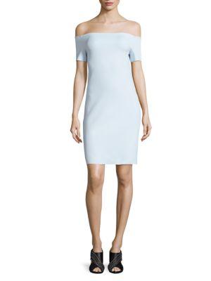 Scuba Off-the-Shoulder Dress