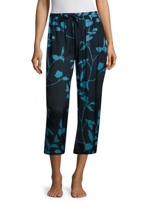Floral Printed Cropped Pajama Pants