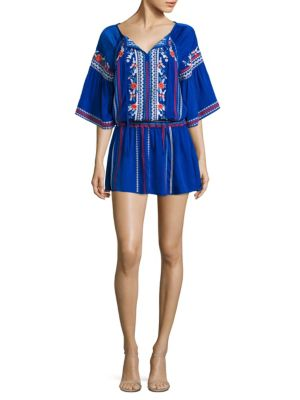 Giselle Embroidered Mini Dress
