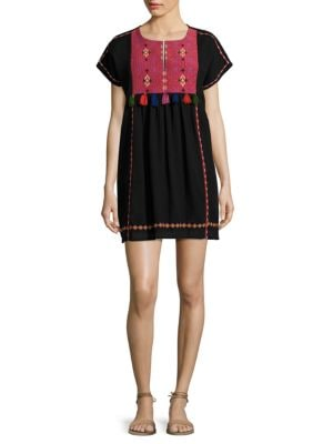 Lucretia Embroidered Cotton Gauze Dress