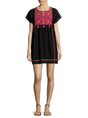 Buy Joie Lucretia Embroidered Cotton Gauze Dress online with Australia wide shipping