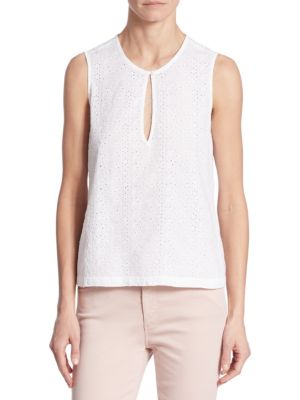 Bret Eyelet Shell Top by AG