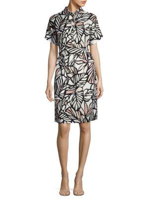 Holera Palm-Print Shirtdress by BOSS