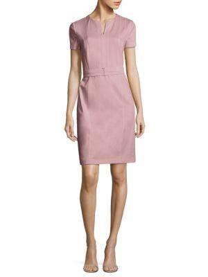 Desany Stretch-Virgin Wool Sheath Dress by BOSS