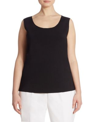 Radiant Shimmer Scoopneck Tank Top by Lafayette 148 New York, Plus Size