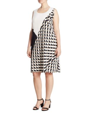 Buy Lafayette 148 New York, Plus Size Diega Colorblock Dress online with Australia wide shipping