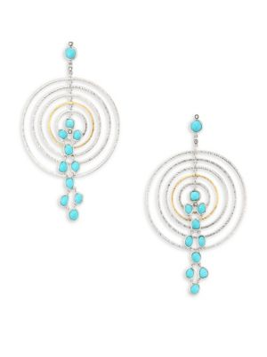 COOMI SILVER Spring Turquoise, Diamond & Sterling Silver Drop Earrings
