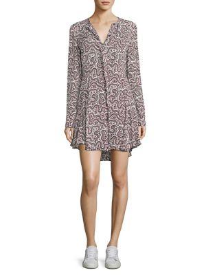 Randi Floral-Print Silk Dress