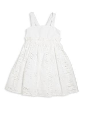 Toddler's, Little Girl's & Girl's Jenny Midi Eyelet Dress