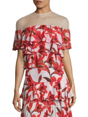 Ivy Illusion Tiered Top by Delfi Collective