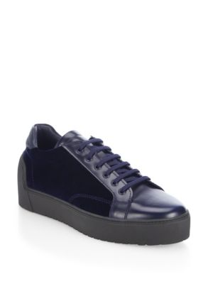 Velvet Creeper Lace-Up Sneakers