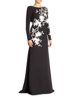 Long Sleeve Floral Gown
