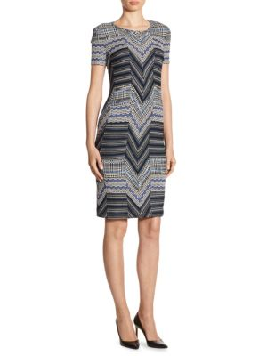 Wool Patchwork Dress