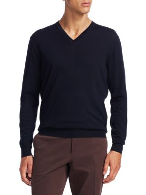 Wool & Cashmere V-Neck Sweater from Saks Fifth Avenue