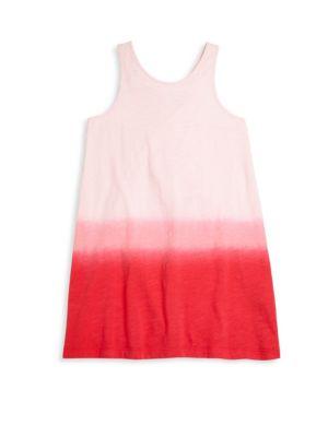 Little Girl's & Girl's Dip-Dyed Tank Dress