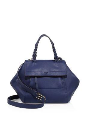 Half-Moon Leather Top Handle Bag