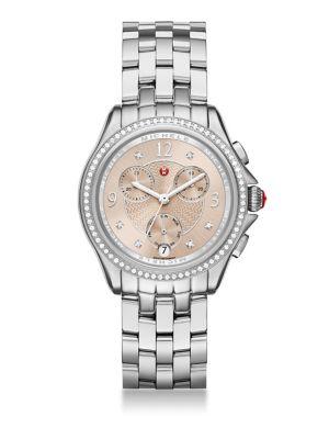 Belmore Chrono Diamond & Stainless Steel Bracelet Watch