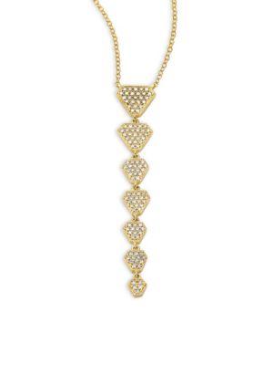 RON HAMI Athena Diamond & 18K Yellow Gold Pendant Necklace