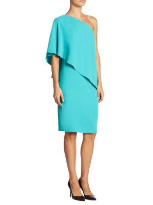 Solid One-Shoulder Dress