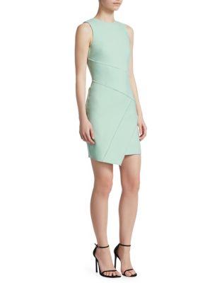 Woman Josie Frayed Woven Mini Dress Mint