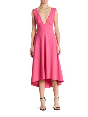 Sleeveless Drape-Front Dress