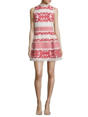 Minika Embroidered Tiered Dress