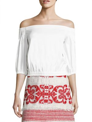 Vitali Off-The-Shoulder Poplin Top