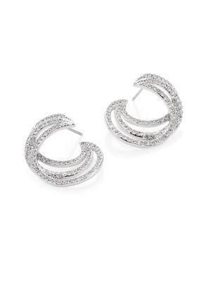 Helix Crystal Hoop Earrings