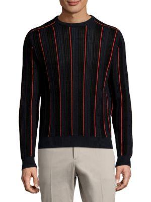 Long-Sleeve Stripe Sweater