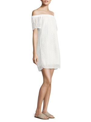 Flavia Eyelet Off-The-Shoulder Dress